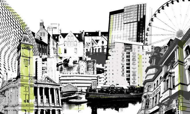 Cityscapes Montage Birmingham Tektura Wallcoverings