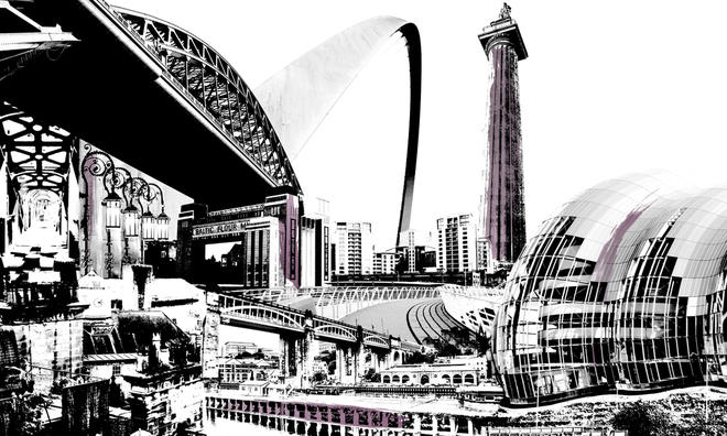Cityscapes Montage Newcastle Tektura Wallcoverings