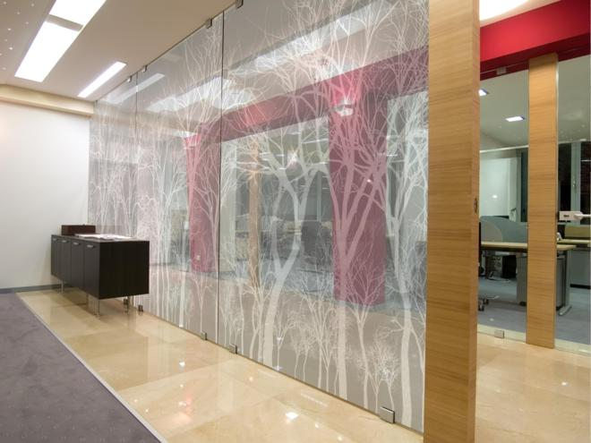 Window Graphics Wftrees White Tektura Wallcoverings