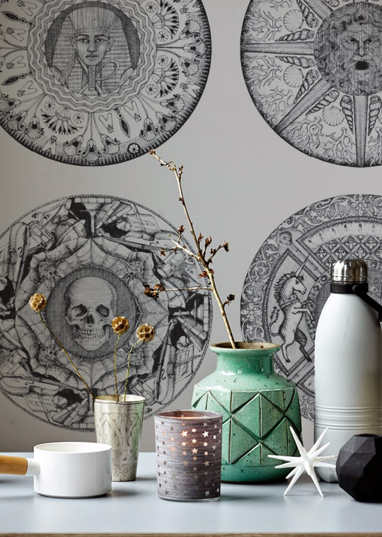 New wallcoverings designed by Helen Strevens