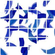 Brush Grid Original Blue 3x4m