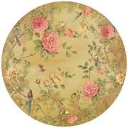 FIO200460 Moonlight Garden circular mural 145x145