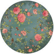 FIO200461 Moonlight Garden circular mural  145x145