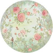 FIO200462 Moonlight Garden circular mural 145x145