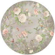 FIO200464 Moonlight Garden circular mural 145x145