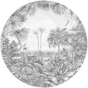 GRA300421 In The Woods circular Mural145x145