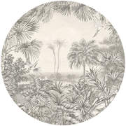 GRA300422 In The Woods circular Mural145x145