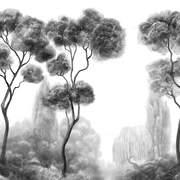 TREES CHIAROSCURO 3x6m